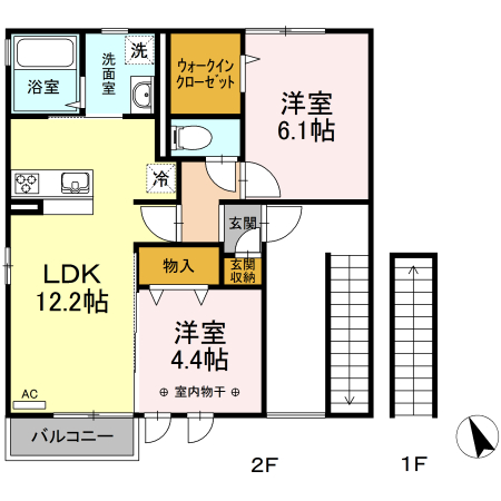 ◇2LDK☆小名浜エリア☆浴室乾燥付き☆モニタ付インターホン完備☆(仮)D-room小名浜玉川町南 A 201