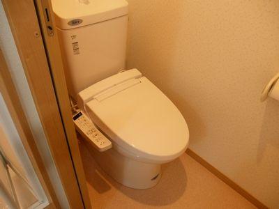 トイレはウォシュレットタイプになります。